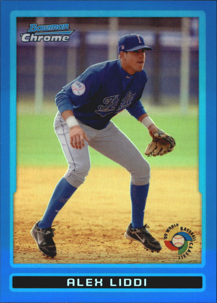 2009 Bowman Chrome WBC Prospects Blue Refractors #BCW13 Alex Liddi