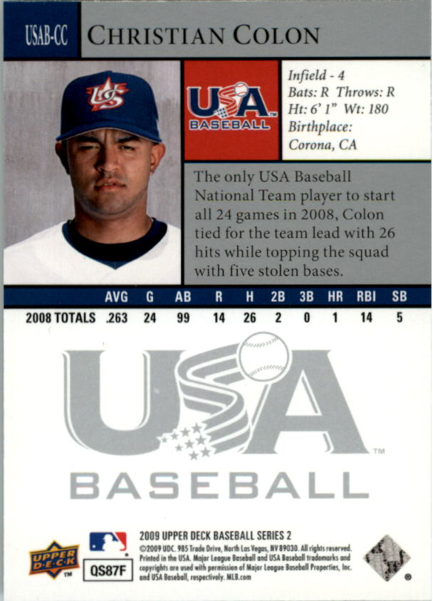 2009 Upper Deck USA National Team #CC Christian Colon back image