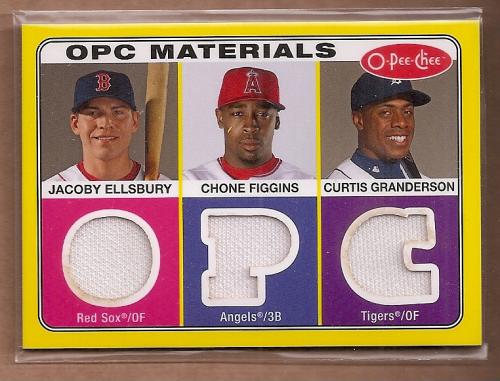2009 O-Pee-Chee Materials #EFG Jacoby Ellsbury/Curtis Granderson/Chone Figgins