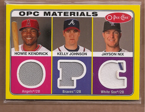 2009 O-Pee-Chee Materials #KJN Jayson Nix/Kelly Johnson/Howie Kendrick