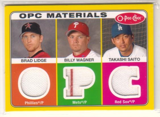 2009 O-Pee-Chee Materials #LWS Brad Lidge/Takashi Saito/Billy Wagner