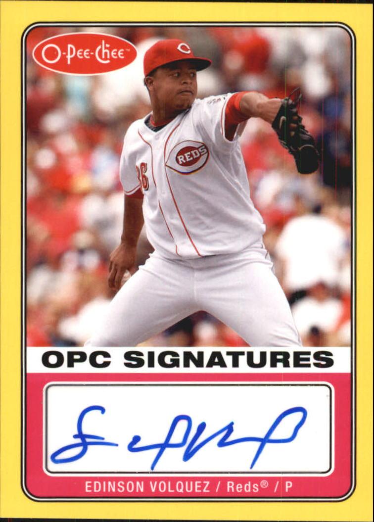 2009 O-Pee-Chee Signatures #SEV Edinson Volquez