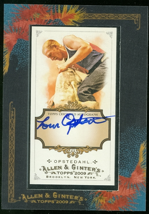 2009 Topps Allen and Ginter Autographs #LO Loren Opstedahl/239 * B