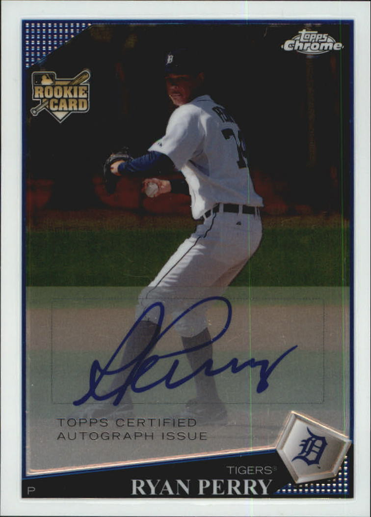 2009 Topps Chrome #225 Ryan Perry AU
