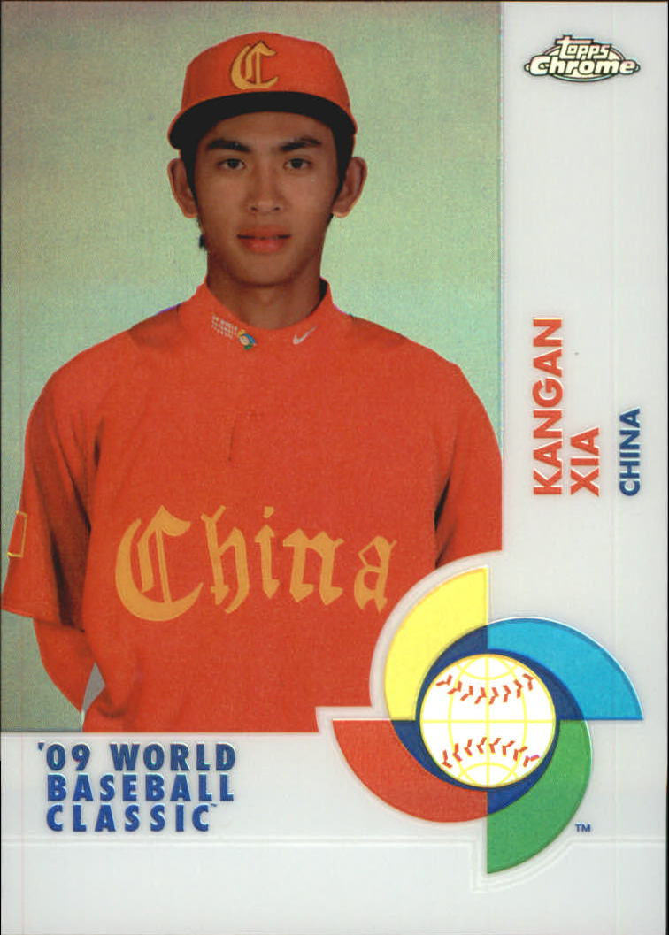 2009 Topps Chrome World Baseball Classic Refractors #W80 Kangan Xia
