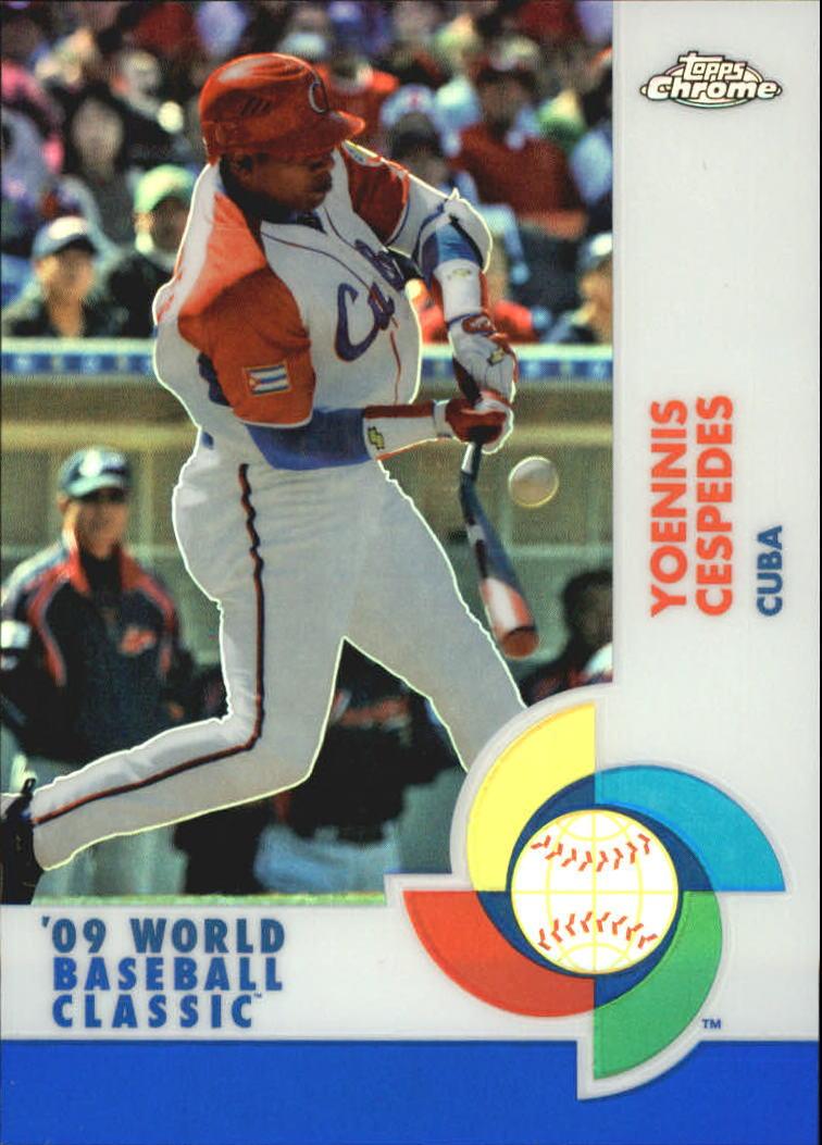 2009 Topps Chrome World Baseball Classic Blue Refractors #W11 Yoennis Cespedes