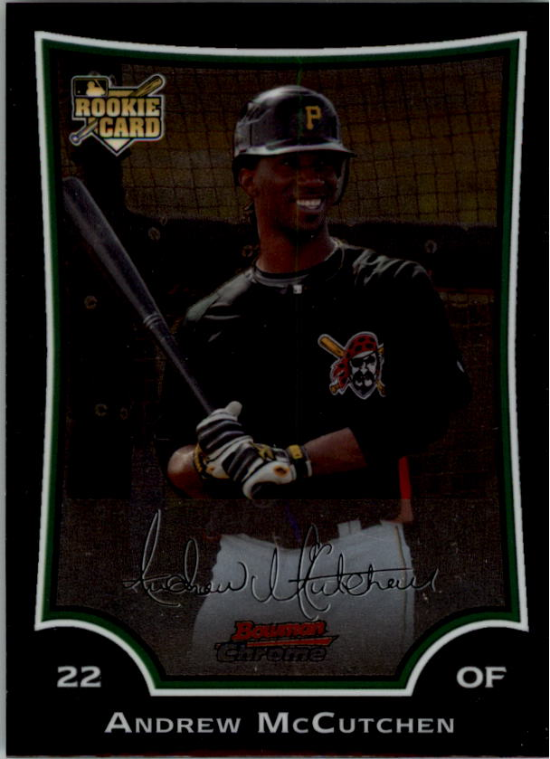 2009 Bowman Chrome #178 Andrew McCutchen (RC)