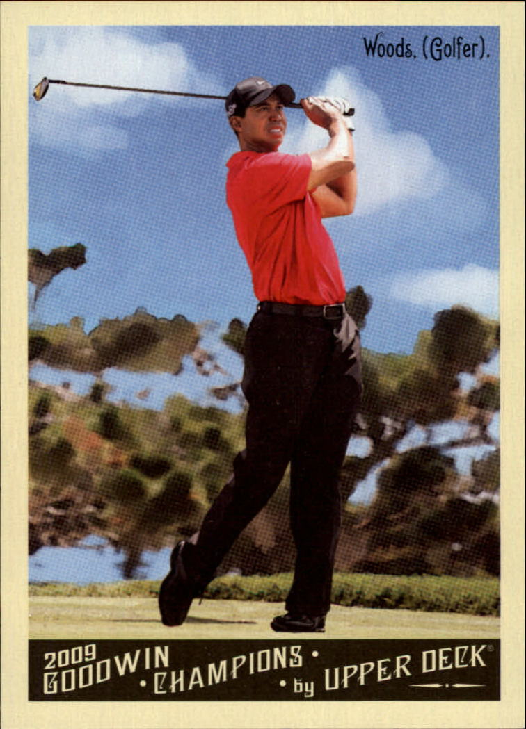 2009 Upper Deck Goodwin Champions #65a Tiger Woods Day