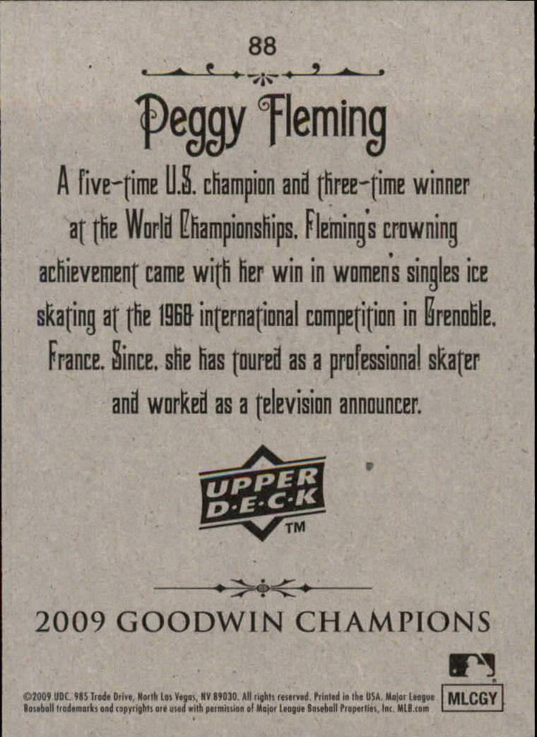 2009 Upper Deck Goodwin Champions #88 Peggy Fleming back image