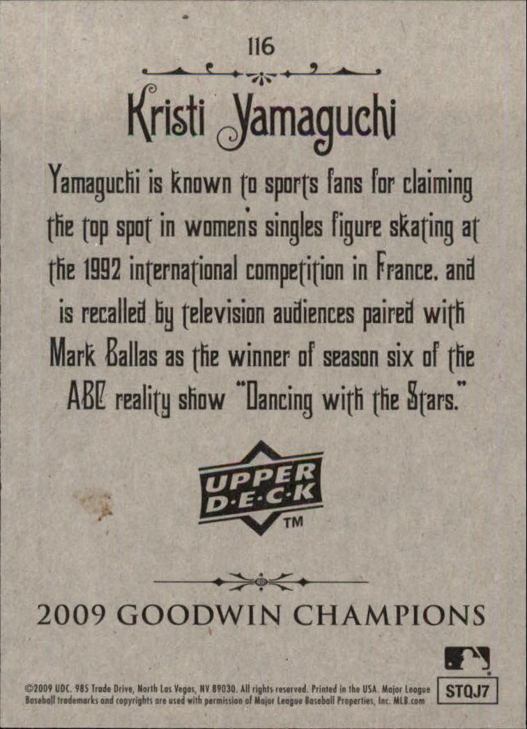 2009 Upper Deck Goodwin Champions #116 Kristi Yamaguchi back image