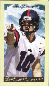 2009 Upper Deck Goodwin Champions Mini #57 Eli Manning