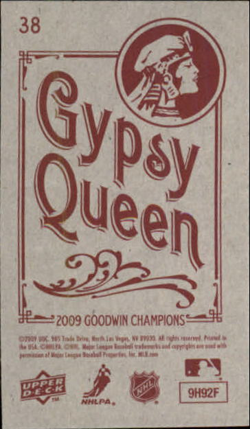 2009 Upper Deck Goodwin Champions Mini Black Border #38 Carey Price back image