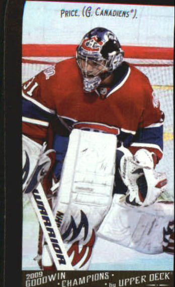 2009 Upper Deck Goodwin Champions Mini Black Border #38 Carey Price