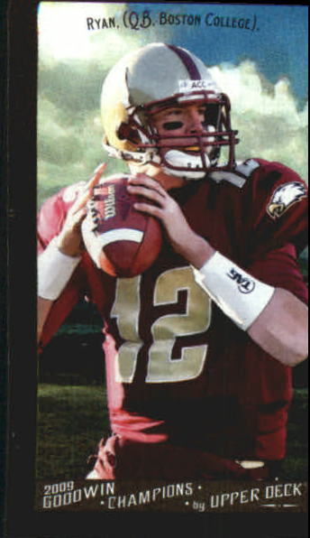 2009 Upper Deck Goodwin Champions Mini Black Border #68 Matt Ryan
