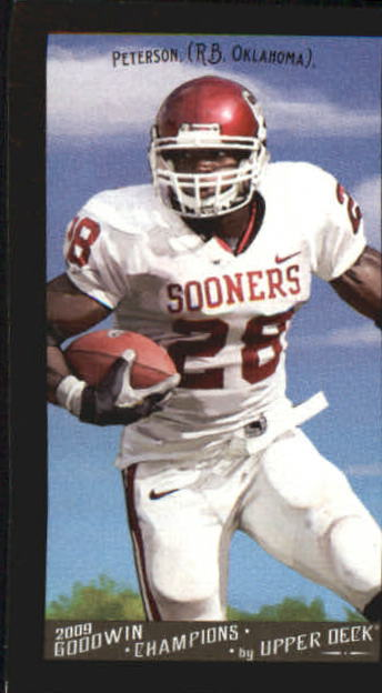 2009 Upper Deck Goodwin Champions Mini Black Border #94 Adrian Peterson