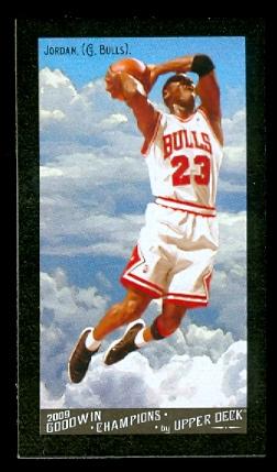2009 Upper Deck Goodwin Champions Mini Black Border #114 Michael Jordan