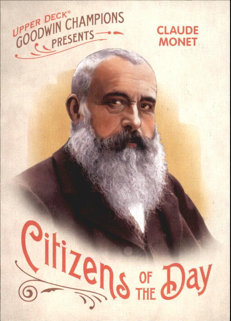 2009 Upper Deck Goodwin Champions Citizens of the Day #CD13 Claude Monet