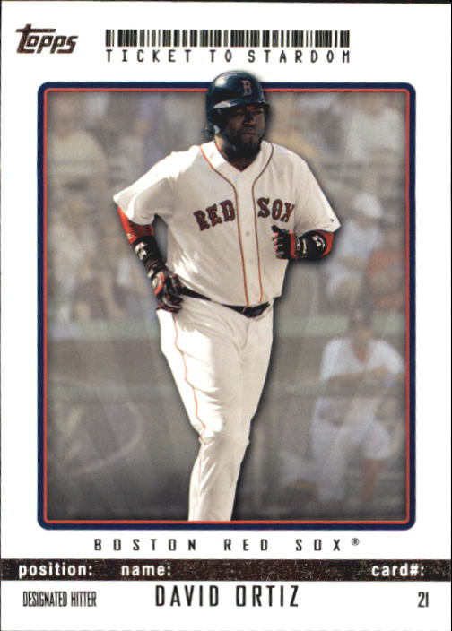 2009 Topps Ticket to Stardom #21 David Ortiz