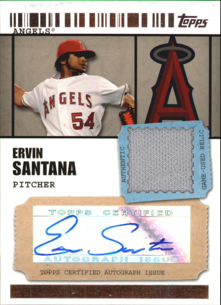 2009 Topps Ticket to Stardom Autograph Relics #ES Ervin Santana A