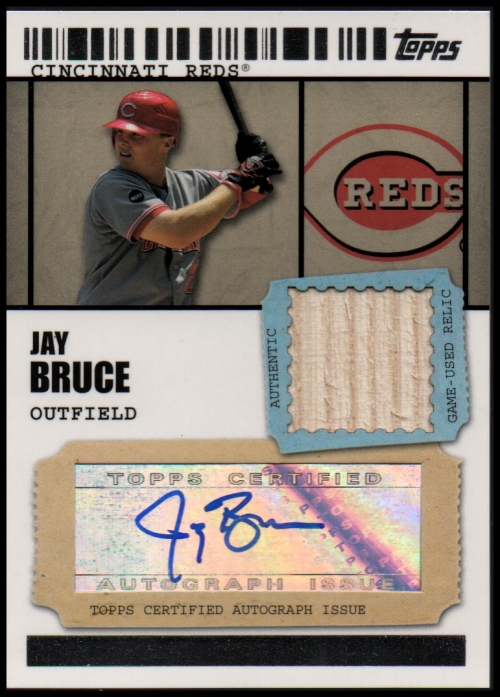 2009 Topps Ticket to Stardom Autograph Relics #JB Jay Bruce A
