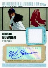 2009 Topps Ticket to Stardom Autograph Relics #MB Michael Bowden A