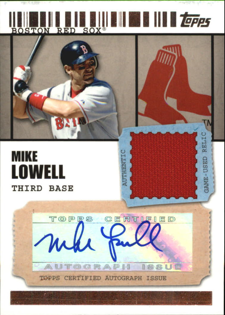 2009 Topps Ticket to Stardom Autograph Relics #ML Mike Lowell B