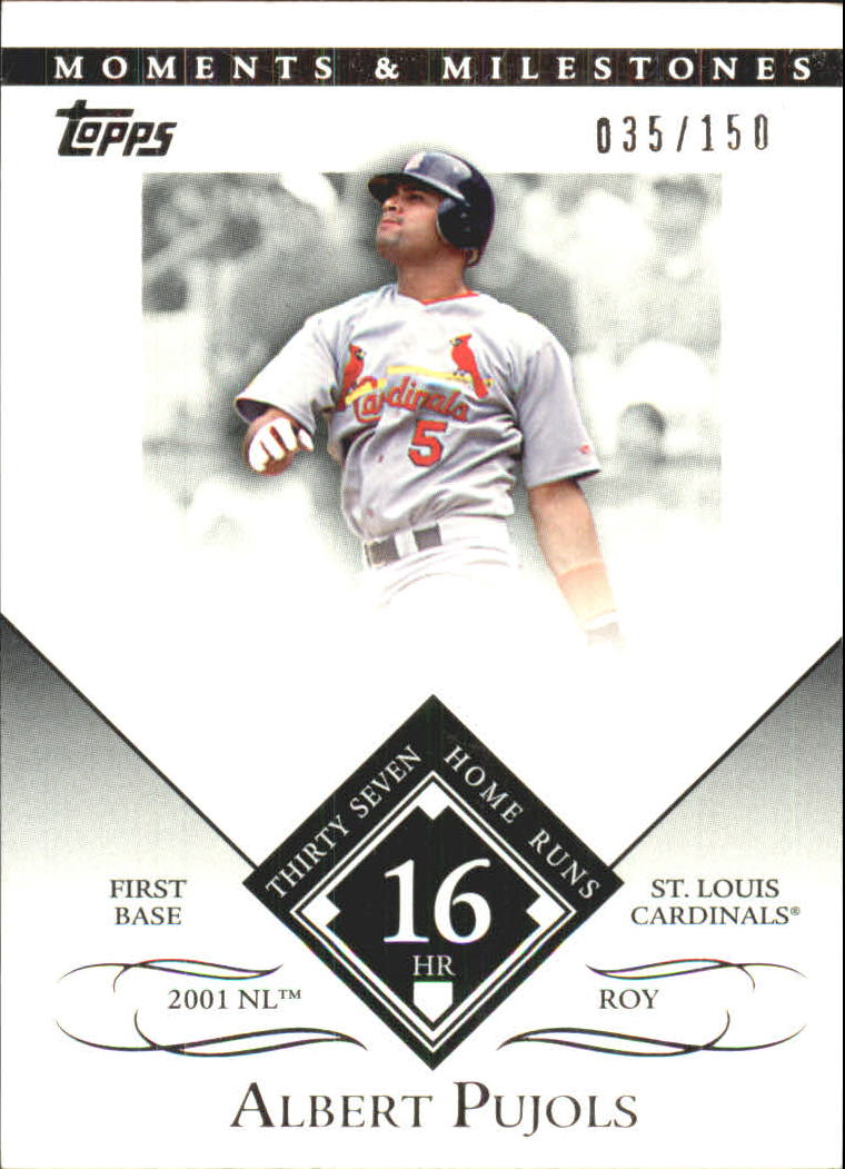 2007 Topps Moments and Milestones #1-16 Albert Pujols/HR 16