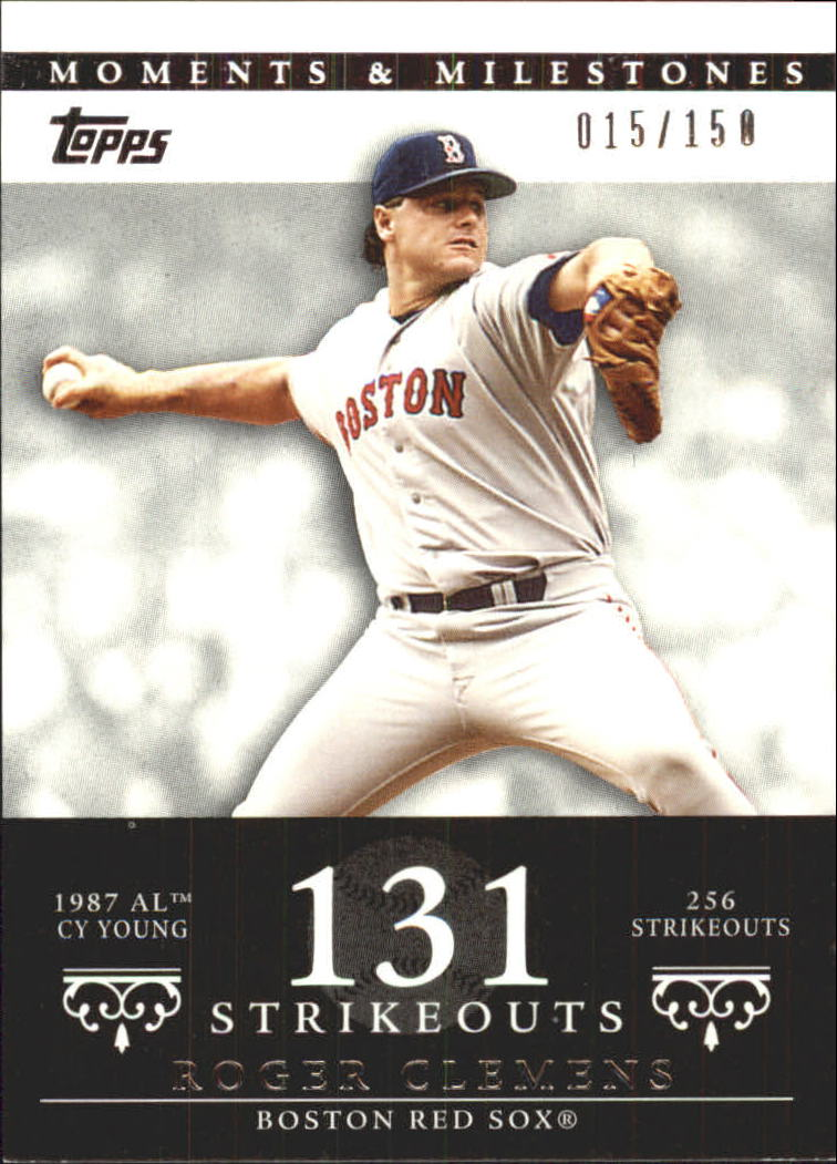 2007 Topps Moments and Milestones #20-131 Roger Clemens/SO 131
