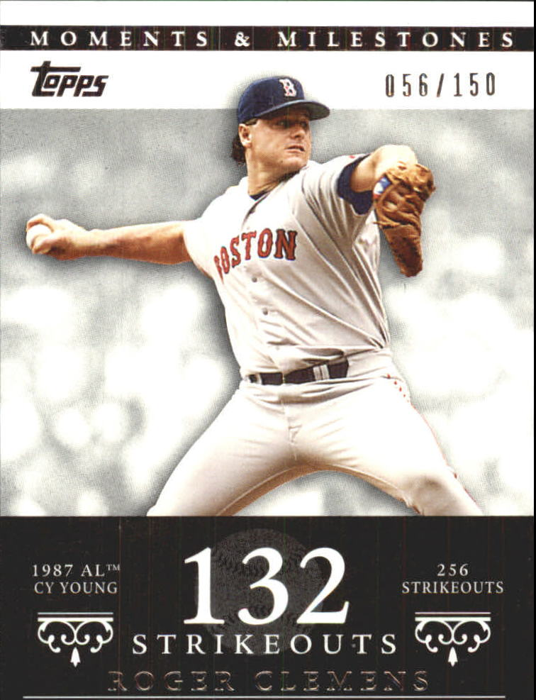 2007 Topps Moments and Milestones #20-132 Roger Clemens/SO 132