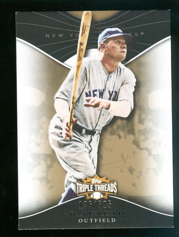 2009 Topps Triple Threads Sepia #3 Babe Ruth