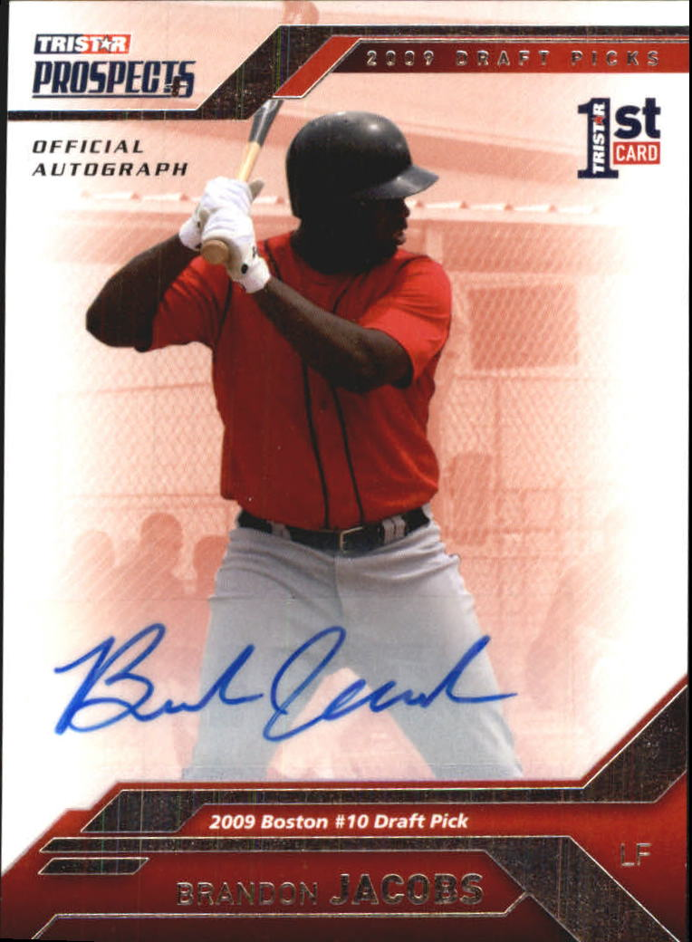 2009 TRISTAR Prospects Plus Autographs #67 Brandon Jacobs