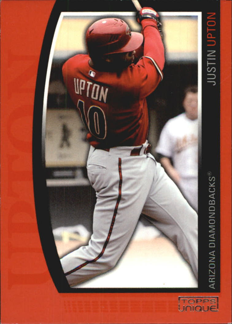 2009 Topps Unique Red #97 Justin Upton