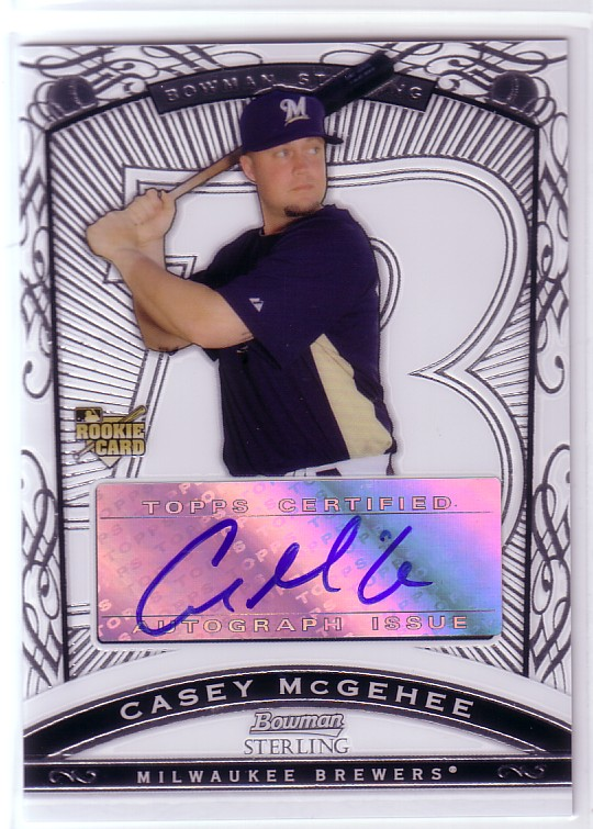 2009 Bowman Sterling #CM Casey McGehee AU (RC)