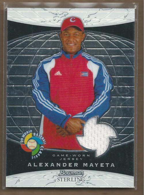 2009 Bowman Sterling WBC Relics #AM Alexander Mayeta