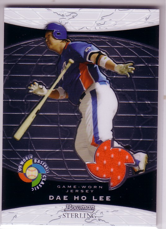 2009 Bowman Sterling WBC Relics #DL Dae Ho Lee