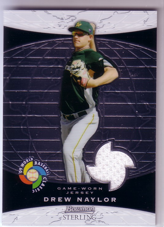 2009 Bowman Sterling WBC Relics #DN Drew Naylor