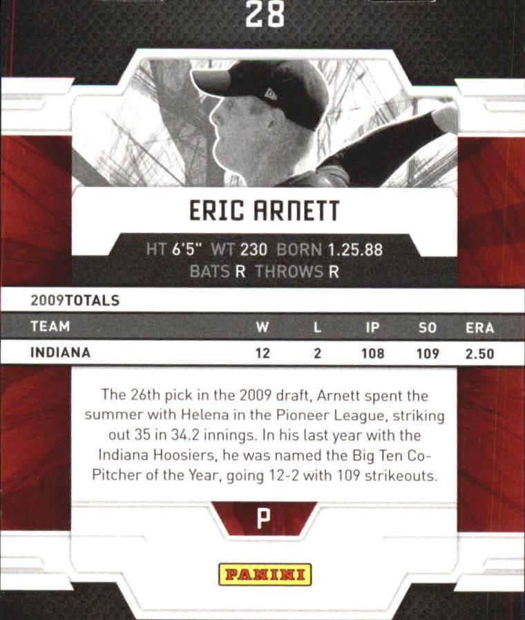 2009 Donruss Elite Extra Edition Aspirations #28 Eric Arnett back image