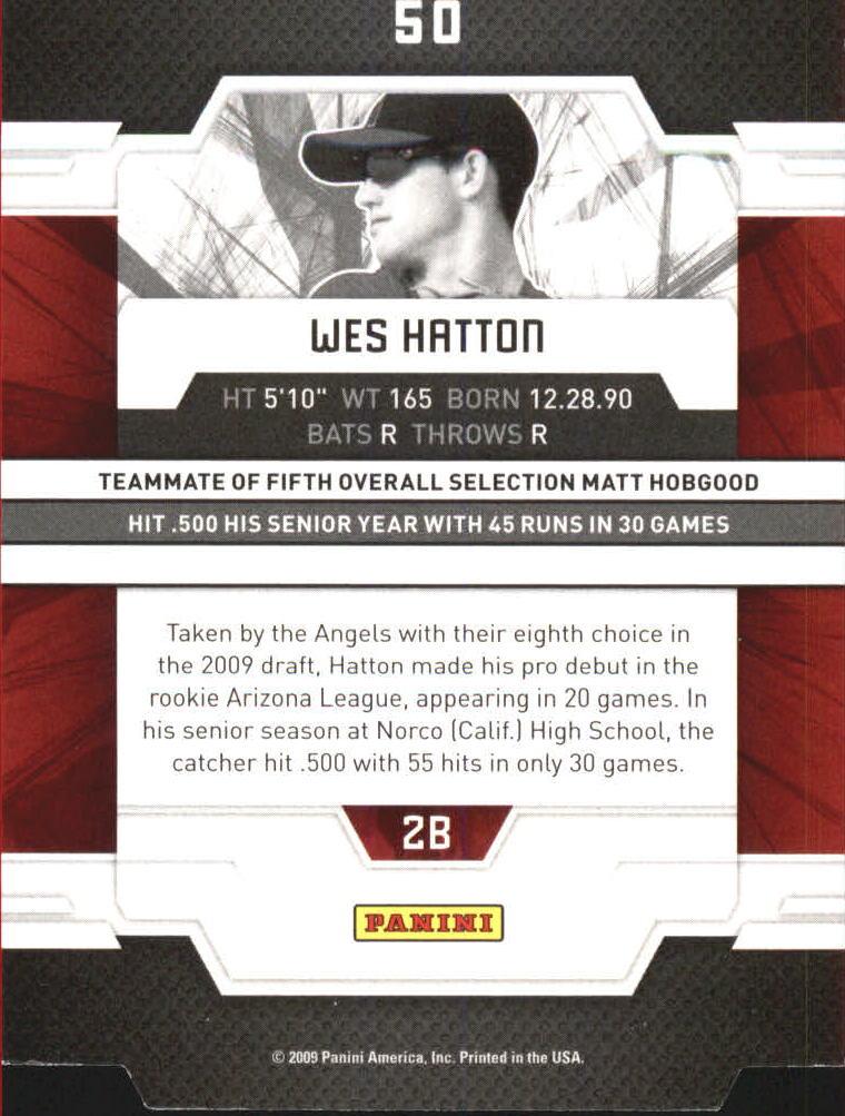 2009 Donruss Elite Extra Edition Aspirations #50 Wes Hatton back image