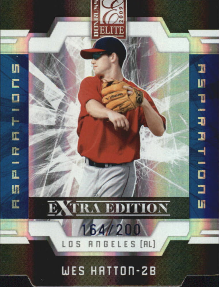 2009 Donruss Elite Extra Edition Aspirations #50 Wes Hatton