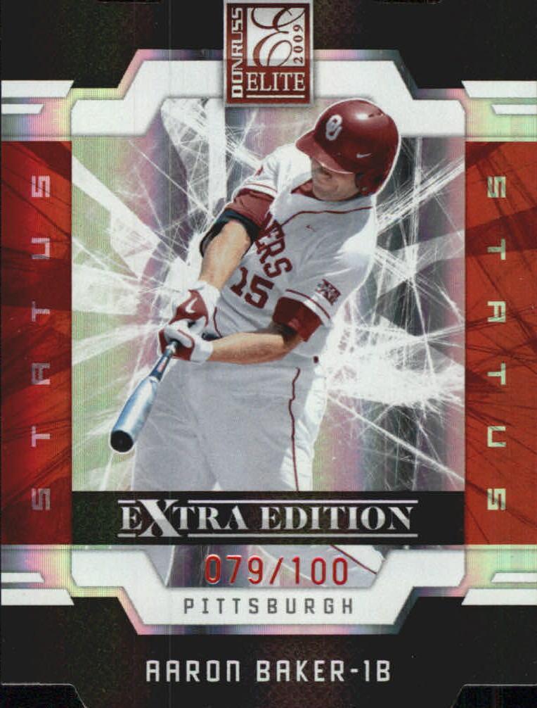2009 Donruss Elite Extra Edition Status #40 Aaron Baker