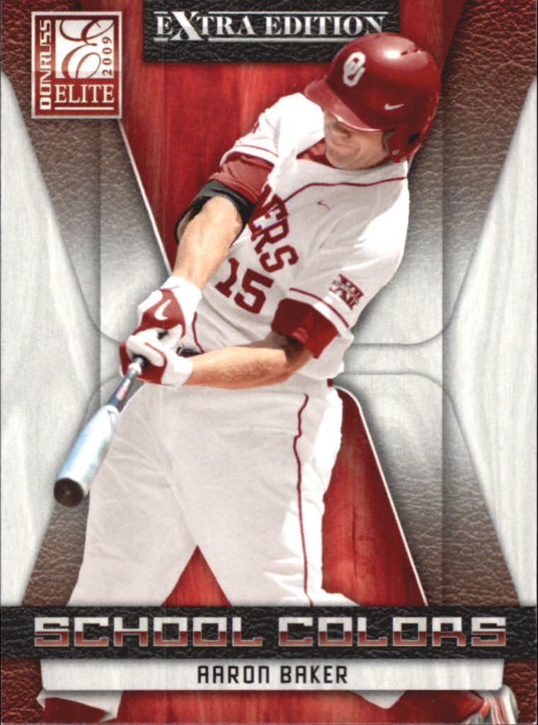 2009 Donruss Elite Extra Edition School Colors #20 Aaron Baker