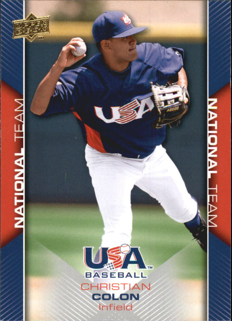 2009-10 USA Baseball #USA2 Christian Colon