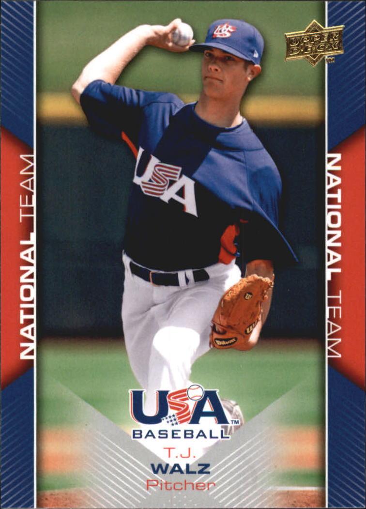 2009-10 USA Baseball #USA11 T.J. Walz