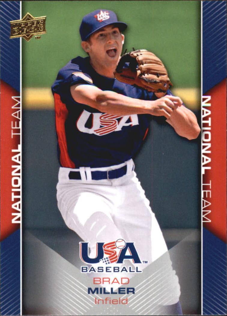 2009-10 USA Baseball #USA17 Brad Miller
