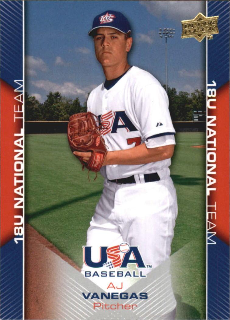 2009-10 USA Baseball #USA40 A.J. Vanegas