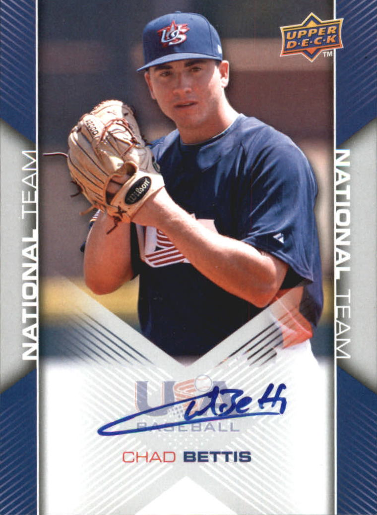 2009-10 USA Baseball #USA64 Chad Bettis AU