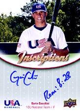 2009-10 USA Baseball 18U National Team Inscriptions Autographs #GC Garin Cecchini