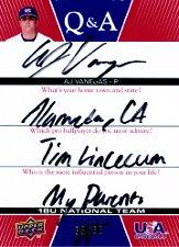 2009-10 USA Baseball 18U National Team Q And A Autographs #AV A.J. Vanegas