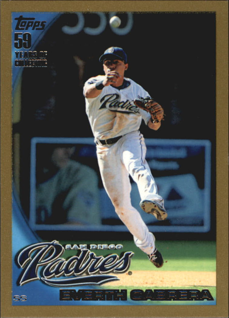 2010 Topps Gold Border #551 Everth Cabrera
