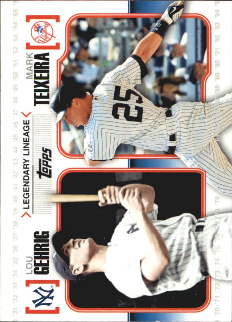 2010 Topps Legendary Lineage #LL4 Lou Gehrig/Mark Teixeira